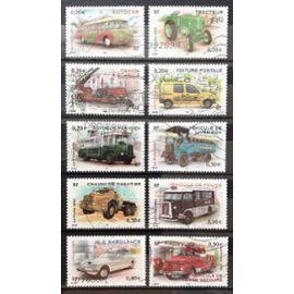 Série Véhicules Utilitaires - 3609 Autocar + 3610 3611 + 3612 Voiture Postale + 3613 3614 3615 3616 3617 3618 Obl - Cote 5,00€ - France Année 2003 - N17922
