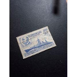 timbre france clemenceau bateau militaire tp9