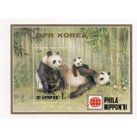 Corée- 1 bloc feuillet Philanippon 91- Pandas