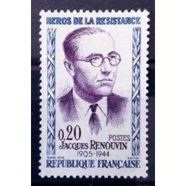 Résistants 1961 - Jacques Renouvin 0,20 (Impeccable n° 1288) Neuf** Luxe (= Sans Trace de Charnière) - France Année 1961 - N10931