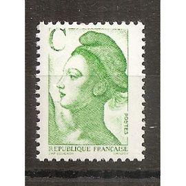 2615 (1990) Type Liberté Lettre C vert N** (cote 1e) (0922)