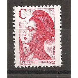 2616 (1990) Type Liberté Lettre C Rouge N** (cote 1e) (0926)