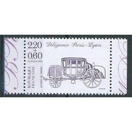 Journée du timbre 1989 neuf** provenant de carnet. Diligence Paris-Lyon n° 2578