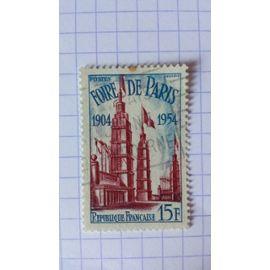 Lot n°332 ■ timbre oblitéré france n ° 975 ---- 15f rouge et bleu