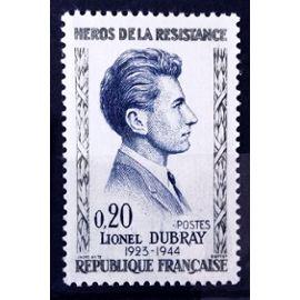 Résistants 1961 - Lionel Dubray 0,20 (Impeccable n° 1289) Neuf** Luxe (= Sans Trace de Charnière) - France Année 1961 - N10932