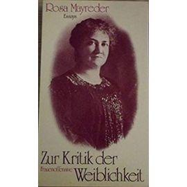 Zur Kritik der Weiblichkeit: Essays (German Edition) - Unknown