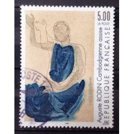 Auguste Rodin - Cambodgienne Assise 5,00 (Très Joli n° 2636) Obl - France Année 1990 - N25922