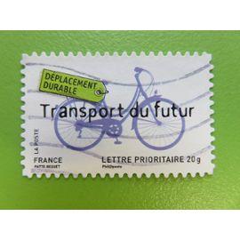 """Timbre France YT 4206 (AA N° 184) - Environnement - """"Déplacement durable - transport du futur"""" (bicyclette) - 2008"""