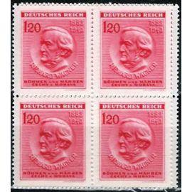 Tchécoslovaquie, occupation allemande, bohème et moravie (böhmen und Mahren), 1943, très beau bloc neuf** luxe yvert 108, compositeur richard wagner.