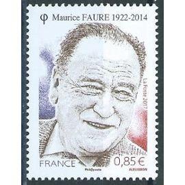 Maurice Faure, résistant et homme politique 2017 neuf** n° 5134