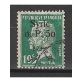 syrie, 1924-1925, timbres de france de 1900-1924 avec surcharge bilingue (type pasteur), n°143, oblitéré.