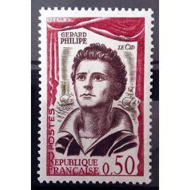 Comédiens Français - Gérard Philipe 0,50 (Impeccable n° 1305) Neuf** Luxe (= Sans Trace de Charnière) - France Année 1961 - N10937