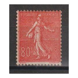 france, 1924-1932, type semeuse lignée, n°203 (80 c. rouge), neuf.