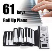Roll Up Clavier Piano Clé 61 Clavier En Silicone Roulé À La Main Instrument Musique Portable