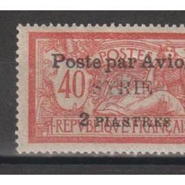 syrie, 1924, poste aérienne, type merson, n°18, neuf.