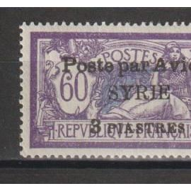 syrie, 1924, poste aérienne, type merson, n°19, neuf.