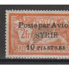 syrie, 1924, poste aérienne, type merson, n°21, neuf.