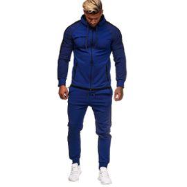 ELECTRI Hommes Automne Hiver Poche Sweat,Homme Ensemble /à Manches Longues et Pantalons /à imprim/é Sport surv/êtement