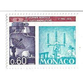 Monaco : Vè Journée Mondiale des Télécommunications 17 mai 1973 (0,60)