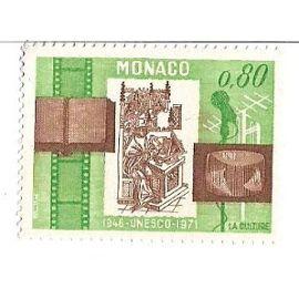 Monaco : Unesco 1946-1971 La Culture (0,80)