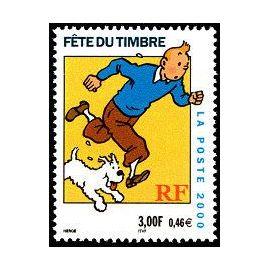 timbre Fête du timbre Tintin et Milou (emission de 2000)