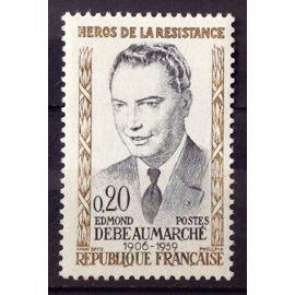 Résistants 1960 - Edmond Debeaumarché 0,20 (Impeccable n° 1248) Neuf** Luxe (= Sans Trace de Charnière) - France Année 1960 - N25978