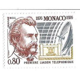 Monaco : Première liaison téléphonique 1876-1976 (0,80)