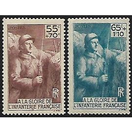 Timbres France 1938 neufs* 386-387