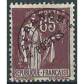 france 1932, bel exemplaire yv. 73, type paix 65c. brun foncé préoblitéré, utilisé, TBE