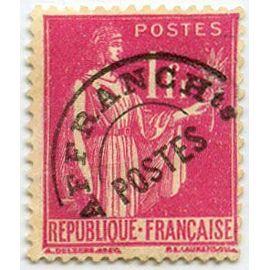 france 1937 / 39, très bel exemplaire type paix préoblitéré yvert 76, 1f. rose, neuf*