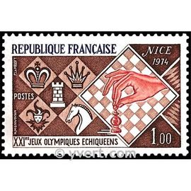 21èmes jeux olympiques échiquéens année 1974 n° 1800 yvert et tellier luxe