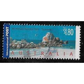 Timbre d'Australie N°2226 Y & T 1,80 $ multicolore paysages mont william national park tasmanie