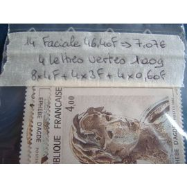 14) lot timbres france neufs pour affranchissement.