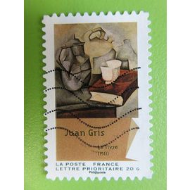 """Timbre France YT 705 AA - Art - Cubisme - """"Le livre"""" de Juan Gris - 2012"""
