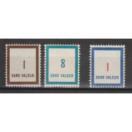france, 1950, 1951, 1952, timbres fictifs, n°F79 + F83 + F100, neufs.
