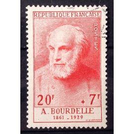 Célébrités XIII au XXème Siècle - Bourdelle 20f+7f Rouge (Magnifique n° 992) Obl - Cote 36,00€ - France Année 1954 - N26581