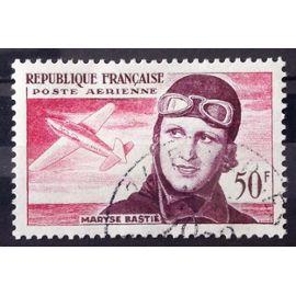 Aviatrice Maryse Bastié 50f (Superbe Aérienne n° 34) Obl - Cote 5,00€ - France Année 1955 - N26226