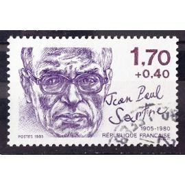 Personnages Célèbres - Jean-Paul Sartre 1,70+0,40 (Très Joli n° 2357) Obl - France Année 1985 - N26329