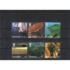 6 timbres neufs GB 2005 Paysages sud ouest