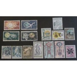 tchécoslovaquie oblitéré y et t N° 1265 et plus lot de 15 timbres de 1963