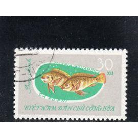 Timbre-poste du Viet-Nam du Nord (Poisson d'eau douce)