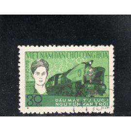 Timbre-poste du Viet-Nam du Nord (Locomotive)