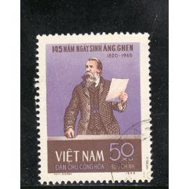 Timbre-poste du Viet-Nam du Nord (145ème anniversaire de la naissance de Friedrich Engels)