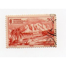 A.O.F- 1 timbre oblitéré- Paysage