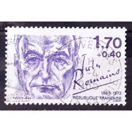 Personnages Célèbres - Jules Romains 1,70+0,40 (Joli n° 2356) Obl - France Année 1985 - N26328