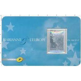 Marianne - autoadhésif en argent sous blister neuf