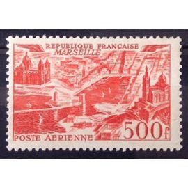 Vues de Grandes Villes - Marseille 500f Rouge (Impeccable Aérienne n° 27) Neuf** Luxe (= Sans Trace de Charnière) - Cote 77,00€ - France Année 1949 - N26879