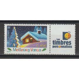 """france, 2002, timbres personnalisés, """"meilleurs voeux"""", n°3533A, neuf."""