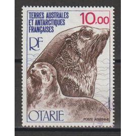 terres australes et antarctiques françaises, 1977, poste aérienne, faune, otarie, n°48, oblitéré.