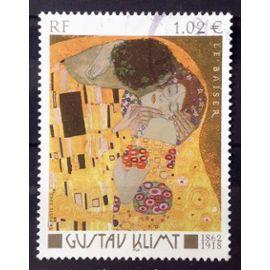 Gustav Klimt - Le Baiser 1,02€ (Superbe n° 3461) Obl - France Année 2002 - N26603